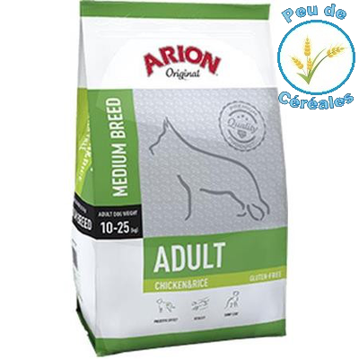 Adult medium poulet riz (12 kg)