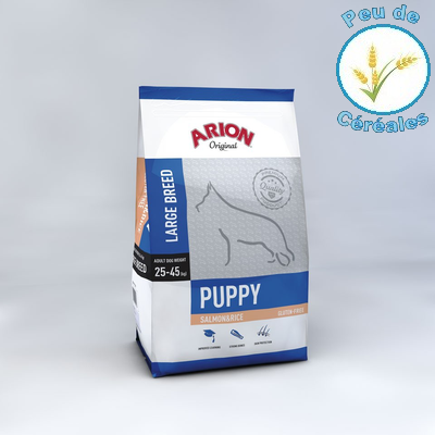 Puppy large saumon riz (12 kg)