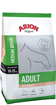 Adult medium saumon riz (12 kg)